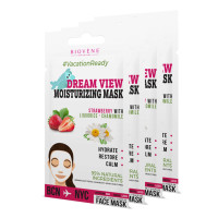 Biovène Dream View, Moisturizing Mask 0.42 oz (Pack of 4)- Hydrates, Restores & Clarifies Skin. 95% Natural Ingredients
