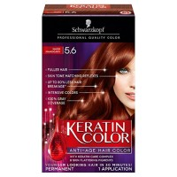Schwarzkopf Keratin Color Anti-Age Hair Color Kit, Warm Mahogany 1 ea [017000128009]