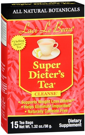 Laci Le Beau Super Dieter's Tea All Natural Botanicals 15 Each [080987010117]