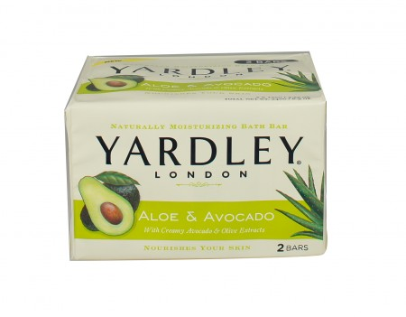Yardley London Moisturizing Bars Fresh Aloe With Avocado Essence 8.50 oz [041840800313]