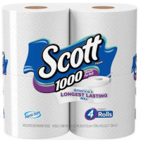 Scott Scott Tissue 1000 Sheets Unscented Bathroom Tissue 4  ea [054000101830]