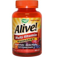 Nature's Way Alive! Multivitamin Gummies, Orchard Fruit and Garden Veggies 50 ea  [033674157879]