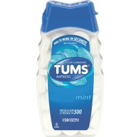 TUMS Antacid, Regular Strength Chewable Tablets, Mint 150 ea [307660747727]
