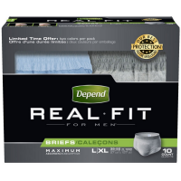 Depend Real Fit Maximum AbsorbencyBriefs For Men, Large/X-Large 10 ea [036000127799]