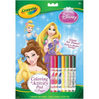 Crayola Coloring & Activity Pad with Markers, Disney Princess 1 ea [071662358075]