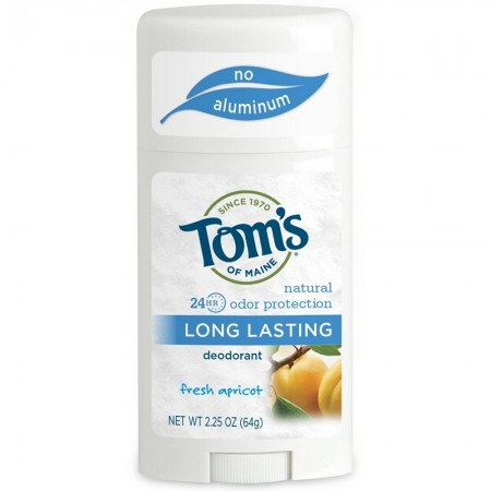 Tom's of Maine Natural Long-Lasting Deodorant, Fresh Apricot 2.25 oz [077326611258]