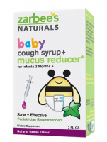 ZarBee's Baby Cough Syrup + Mucus Reducer, Grape 2 oz [898115002671]