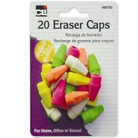 Charles Leonard Pencil Eraser Caps, Neon, Assorted Colors 1  ea [026487807925]