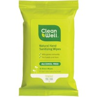 CleanWell All Natural Hand Sanitizing Wipes 10 ea [893481001419]