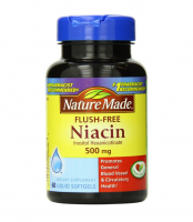 Nature Made Flush-Free Niacin 500 mg Liquid Softgels 60 ea [031604026363]