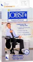 JOBST SupportWear Socks Men's Dress Knee High Mild Compression 8-15mmHg Black Large Close-Toe 1 Pair [035664107826]