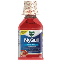 Vicks Nyquil Cold & Flu Nighttime Relief Liquid, Vanilla Cherry Swirl Flavor 12 oz [323900014282]