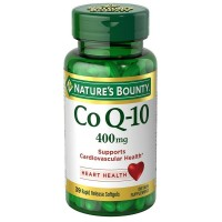 Nature's Bounty Cardio Q10, Co Q-10 400 mg Softgels 30 ea [074312025327]