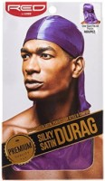 KISS Red Durag Silky Satin Purple Extra Long Tails 1 ea [731509759235]