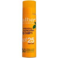 Alba Botanica Moisturizing Sunscreen Lip Balm Spf 25 0.15 oz [724742003944]