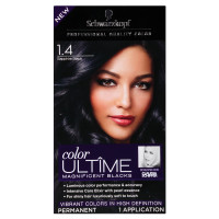 Schwarzkopf Color Ultime Magnificent Blacks Hair Color Kits, Sapphire Black [1.4] 1 ea [017000129600]