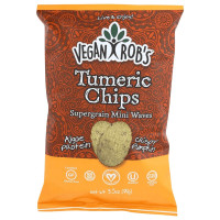 Vegan Rob's Supergrain Mini Waves, Tumeric Chips 12 Bags 3.5 oz [816678020277]