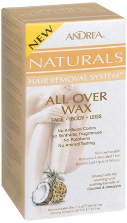 Andrea Naturals Hair Removal System All Over Wax 1 Each [078462641321]