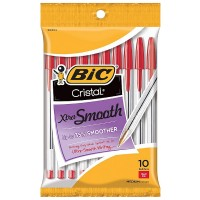 Bic Cristal Xtra-Smooth Ball Pen, Red 10 ea [070330913547]