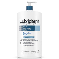 Lubriderm Daily Moisture Lotion for Normal To Dry Skin, Fragrance-Free 24 oz [052800483286]