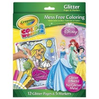 Crayola Color Wonder Disney Princess Glitter Mess Free Coloring Set 1 ea [071662120665]