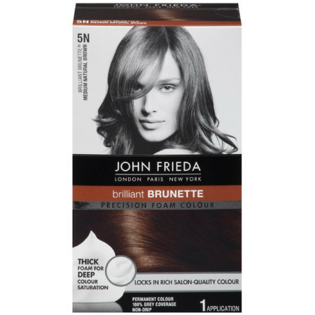 John Frieda Precision Foam Colour Brilliant Brunette (Medium Natural Brown) 5N 1 Each [717226162015]