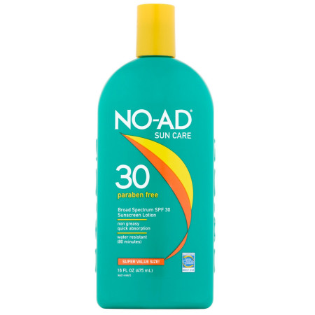 NO-AD Sun Care Sunscreen Lotion, SPF 30 16 oz [897640002149]