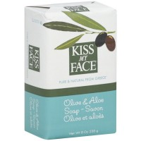 Kiss My Face Bar Soap, Olive & Aloe 8 oz [028367731498]