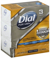 Dial For Men Antibacterial Soap Bars, Odor Armor 3 ea [017000090382]