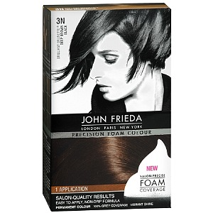John Frieda Precision Foam Colour - Brunette Deep Brown-Black (3N) 1 Each [717226162060]