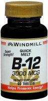 Windmill B-12 3000 mcg Quick Melt Tablets 60 Each [035046003418]