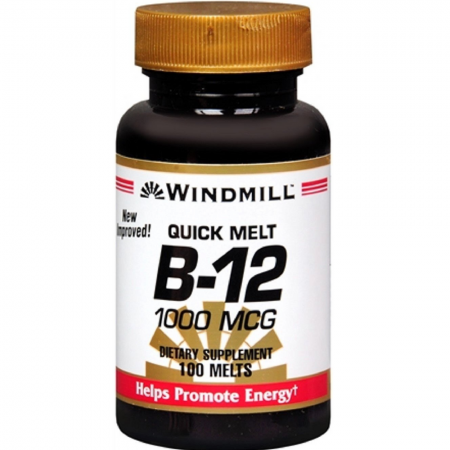 Windmill Vitamin B-12 1000 mcg Tablets Sublingual 100 Tablets [035046011307]