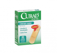 Curad Comfort Fabric Bandages 3/4 x 3 Inches 30 Each [884389108300]