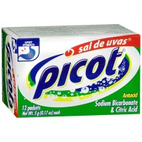 Picot Antacid Effervescent Powder with Sodium Bicarbonate & Citric Acid 12 ea [364613045620]