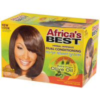 Africa's Best No-Lye Dual Conditioning Relaxer System Kit, Regular 1 ea [034285530006]