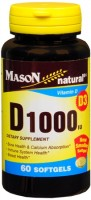 Mason Natural Vitamin D1000 IU Softgels 60 Soft Gels [311845147752]