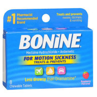 Bonine Motion Sickness Protection, Chewable Tablets, Raspberry 8 ea [363736004385]