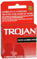 TROJAN Condoms Non-Lubricated Latex 3 Each [022600920502]