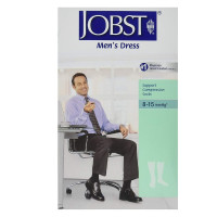 JOBST Mens Dress 8-15 mmHg Closed Toe Knee Highs, Black, Small, 1 Pair [035664107802]