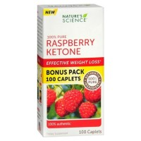 Nature Science  100% Pure Raspberry Ketone Caplets 100 ea [821138004032]