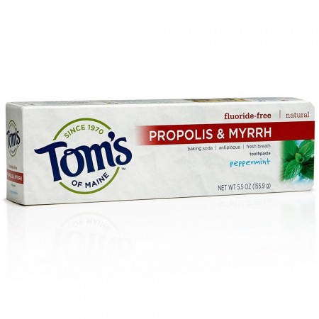Tom's of Maine Propolis & Myrrh Fluoride-Free Toothpaste, Peppermint 5.50 oz [077326830789]