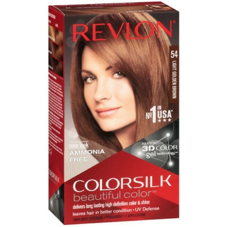 Revlon ColorSilk Hair Color 54 Light Golden Brown 1 Each [309978695547]