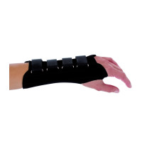 Procare Contoured Wrist Support Left Hand Black Medium - 1 ea [888912033411]