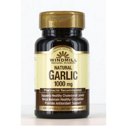 Windmill Garlic Oil 1000 mg Softgels 100 Soft Gels [035046002770]