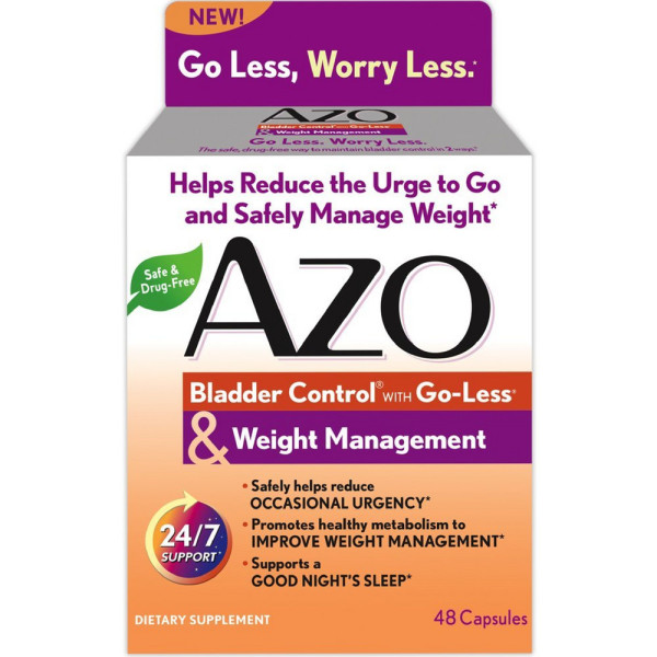 Azo Bladder Control >> Azo Bladder Control With Go Less Weight Management Capsules 48 Ea