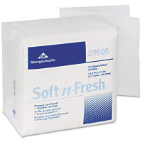 Pacific Blue Select A300 Disposable Patient Care Washcloth by GP PRO (Georgia-Pacific), 29505, 1/4-Fold, White - 55 ea [073310295053]