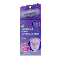 CLEAN & CLEAR Blackhead Scrubby Gel Pore Strips with Salicylic Acid Acne Treatment, Oil-Free & Non-Comedogenic, 6 ea [381371180769]