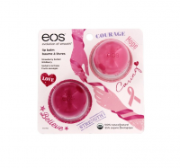 EOS Breast Cancer Awareness Lip Balm, Strawberry Sorbet & Wildberry 2 ea [832992010275]