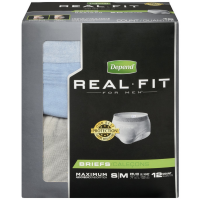 Depend Real Fit Maximum Absorbency Briefs For Men, Small 12 ea [036000127782]