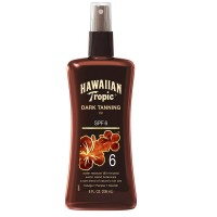 Hawaiian Tropic Dark Tanning Oil, Spray Pump, SPF 6 8 oz [075486088552]